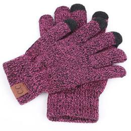 100 paires / lot Gants en tricot de haute qualité homme femme mitaines chaudes plus velours épaissir gant CC gants pour écrans tactiles laine cachemire unisexe ? partir de fabricateur