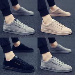 Wholesale Walking Shoes Ladies - 2018 men's new men's casual shoes sneakers ladies fashion sports shoes hot jogging walking black gray beige shoes40-46