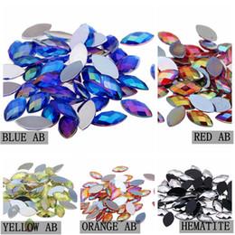 Dekoration nägel online-1000 stücke 4x8mm Acryl Pferd Auge Erde Facetten Nägel Dekoration AB Farben Nicht Verlegenheit Steine Flatback Heißer