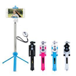 Держатель для мобильного телефона онлайн-Универсальный Android / IOS телефон складной выдвижная Selfie Stick авто Selfie Stick штатив + клип держатель + Bluetooth пульт дистанционного управления набор