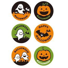 2019 paquete de calabaza 6 unids / pack Halloween Sellado Pegar Wacky Pumpkin Ghost Empaquetado Pegatina de Regalo Etiquetas de Etiquetas de Decoración paquete de calabaza baratos