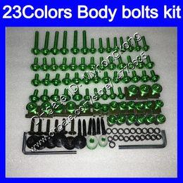 Wholesale Orange Kawasaki Fairing Kits - Fairing bolts full screw kit For KAWASAKI NINJA ZX6R 13 14 15 16 ZX-6R 6 R ZX 6R 2013 2014 2015 2016 Body Nuts screws nut bolt kit 23Colors