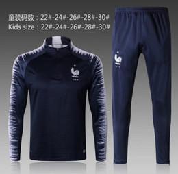 Wholesale Kids Boys Sweaters - KIDS FRance tracksuit veste survêtements POGBA SWEATER football chandail de football survêtement adulte YOUNTH skinny pantalon TRACKSUIT