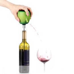 balcão de bar atacado Desconto 1 pcs Elétrica Wine Pister Cider Decanter Pump Apple Design Food Grade Otário Aço Inoxidável Vinho Despeje Acessórios Para Casa Bar