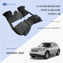 Wholesale Car Foot Mats - SCOTABC Custom Fit Car Foot Pads All Weather Leather Car Floor Mats for Infiiniti FX37 Waterproof Anti-slip 3D Front & Rear Carpets
