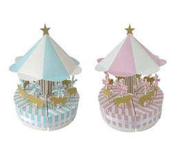 Карусель подарки на день рождения онлайн-Бумага конфеты коробка для единорога партии карусели бумажная подарочная коробка день рождения украшения детские свадебные сувениры и подарки 2018