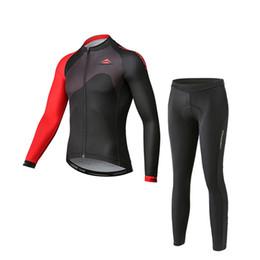 Equipo de ciclismo conjunto completo online-Equipo de MERIDA por encargo Ciclismo mangas largas pantalones de jersey conjuntos al aire libre para hombre Cremallera completa Bicicleta de montaña que monta la ropa Q0739
