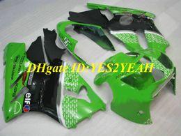 2019 carenagem verde zx12r Kit de revestimento para KAWASAKI Ninja ZX12R 02 03 04 05 ZX 12R 2002 2005 Verde preto Carenagens + presentes KX03 desconto carenagem verde zx12r