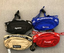 Wholesale Fashion Waist Packs - sup Fashion Man Women sup 18ss 44th waist BAG chest pack fashion bags Single shoulder backpack