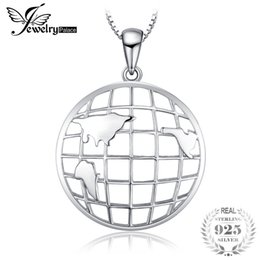 silver box chain 18 Coupons - JewelryPalace 925 Sterling Silver Lines of Longitude and Latitude Travel Pendant Necklace 18 Inches Box Chain