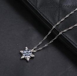 colar de floco de neve vintage Desconto 2019 charme senhora Vintage floco de neve de cristal de zircão flor prata colares pingentes jóias para mulheres frete grátis 578