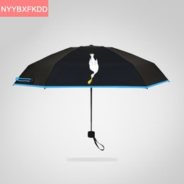 Wholesale uv pencil - High quality solid color pocket mini 195g ultralight pencil umbrella UV black coating Sunny   Rain parasol umbrella rain women