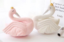 Wholesale Air Conditioned Pillow - Crowned Swan Home Decoration Swan Pillow Lunch Blanket Air Conditioning Blanket Girl Gift
