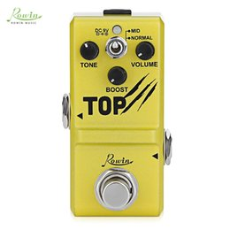Wholesale guitar accessories gifts - RRowin Guitar Effect Pedal Mini Boost Base Guitar Effect Pedal Lightweight Convenient Guitar Instrument Accessory Guitars Gifts