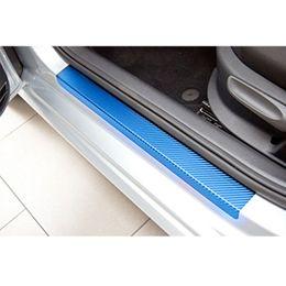 Wholesale Volkswagen Touran - wholesale For VW for Volkswagen Touran 2004 To 2013 Car Door Sill Scuff Carbon Fiber Vinyl Protect Stickers 4pcs Car Styling