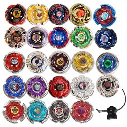 Wholesale 24 spinners - 24 Styles Beyblade Booster Alter Spinning Gyro Launcher fidget spinner Starter String Booster Battling Top Beyblades Novelty Toy GGA242