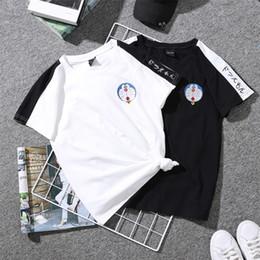 2xl robot Desconto Moda Imprimir Camiseta Robô Gato Camisas Bonito Dos Desenhos Animados Oversize Tshirt Estilo Japonês Streetwear Tees Mulheres Verão Camisa de Manga Curta