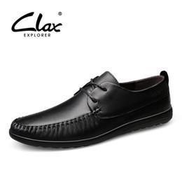 elegante braune lederschuhe männer Rabatt CLAX Herrenschuhe Aus Echtem Leder  Derbies Schuh Herren Leder Schuhe Herbst 49a91c66fb