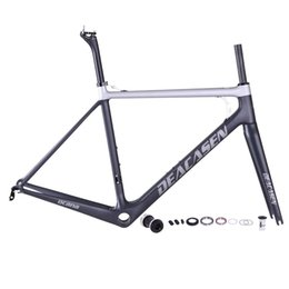 Wholesale Carbon Road Bike 51cm - 2018 HOT SALE Deacasen road bike carbon frame full carbon fiber road bike frame finished matte T800 carbon frameset