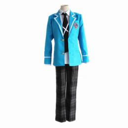 Wholesale Latex Movie Stars - necktie style Anime Ensemble Stars Hokuto Hidaka Narukami Arashi Aoi Yuta Cosplay Costume Full Set School Uniform ( Jacket + Pants