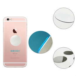 Wholesale universal plate holder - Haobuy Universal Ultra Slim Round Mirror Surface Magnetic Disk Plate Iron Sheet For Car Mount Magnet Phone Stand Holder
