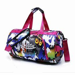 b0c93208f64 Women Camouflage Gym Bag Men Travel Bag Dry And Wet Separation Swimming  Large Capacity Sport Waterproof Oxford Handbag