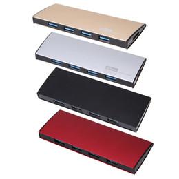 Cavo del disco rigido del computer portatile online-Adattatore per splitter USB HUB USB 3.0 ad alta velocità con 4 porte in lega di alluminio ultrasottile con cavo per Hard Disk per laptop