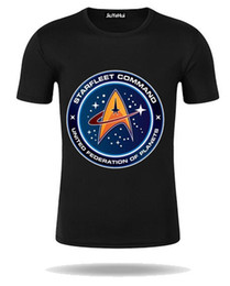 Wholesale Silver Star Tees - 2018 New Arrival T-shirt Men's Star Trek Starfleet Academy Command Men Tshirts 100% Cotton Short Sleeve Family Tops Tee