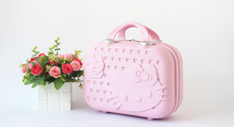 Wholesale Red Suitcase - Children's luggage Adult portable Suitcases Fashion Girl ABS Cartoon Hand Bag Candy Colors 14 Inches Mini Bag