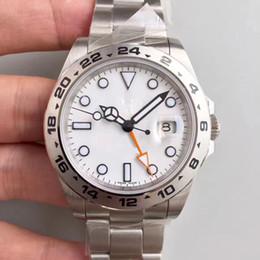 Wholesale Digital Formats - AAA watch 40MM white face Exp lorer II Ref.216570GMT format automatic mechanical watch sapphire mirror explorer watch