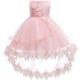 2019 vestidos geométricos del boutique Vestido de bautizo para bebés recién nacidos Bebé niña 2do Trajes de cumpleaños para niños pequeños Vestido de novia para bebés Vestidos de bautizo para bebés Vestido Y18102007
