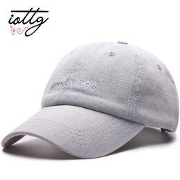 IOTTG Men Denim Snapback Casquette Women Baseball Cap Dad Brand Hats Hip hop  Gorra Fashion Letter Embroidered Vintage Hat Caps 4d4b99c582ca