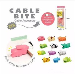 Wholesale charger cute - 18 designs Cable Bite Charger Protector Savor Saver Cover Phone Accessory for iPhone Lightning Cute Animal Design Charging Cord Protective
