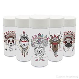 Wholesale Personnalisé De Mode Cerf Cheval Drinkware BPA Sans Plastique Isolé Animal Indien Tête Zebra Mignon Enfants Bouteilles D eau ml Cadeau