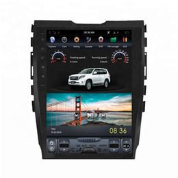 """Dvd navegador carro on-line-Android 6.0 10.4 """"Tesla Vertical tela do carro dvd rádio gps para FORD EDGE 2015-navegação multimídia sistema WIFI A / C BT"""