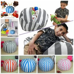 Wholesale Large Beans - Large Bean Chair Toy 80cm Storage Bean Bags Chair Portable Kids Play Mat Clothes Organizer Tool 5 Styles OOA3984