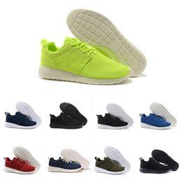 Argentina nike roshe De calidad superior Hombres Mujeres Londres Zapatos para correr Rojo Azul Botas bajas Ligero Venta caliente transpirable Zapatillas de deporte de Londres 36-45 supplier top men london Suministro