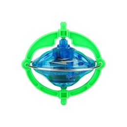 Wholesale Spinning Flashing Toys - Multifunctional UFO Gyro Novelty Top Magic Gyroscope Spinning Toys w  Music LED Light Finger Spinner Anti-stress Kids Toy