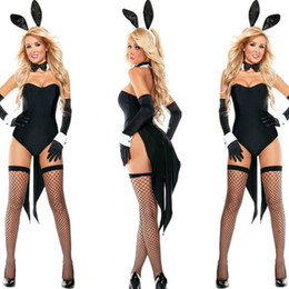 bunny cosplay dress Coupons - 2018 New Bunny Girl Rabbit Costumes Women Cosplay Sexy Halloween Adult Animal Costume Fancy Dress Clubwear Party Wear Plus