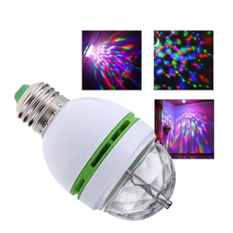 Wholesale Laser Dancing Lights - LED Bulbs Full Color 3W RGB E27 LED Crystal Stage light Auto Rotating lamp AC85-265V Laser Disco DJ Party Holiday Dance bulb