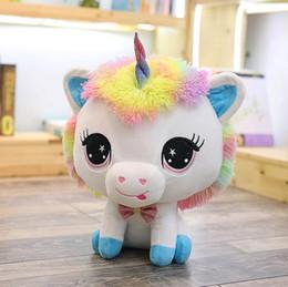 Unicorn bambola peluche nuovo Unicorn bambola di colore primo piano bambola bambini regali giocattoli vacanze di trasporto da felpe incappucciate fornitori