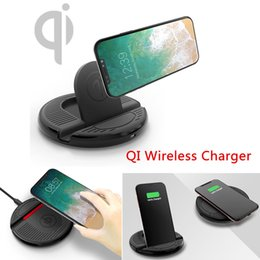 Wholesale Usb Charging Voltage - Fast QI Wireless Car Charger Stand Charging Mount for Iphone X  8 8Plus iPhone7 I6 I5 BBA247