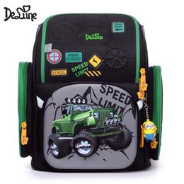 Delune Russian Designer 3D Cartoon Character School Bags 1-3 Grade Students  Children Orthopedic School Backpacks For Girls Boys 8fbe707468869