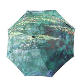 lily fabrics Coupons - TIANQI Famous Art Oil Painting Umbrella Women Rain Sunny Umbrellas Paraguas Parasol Water Lilies