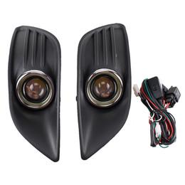 Ford fokus nebelscheinwerfer online-Nebelscheinwerfer Lampe Auto Frontstoßstange Grill LED Nebelscheinwerfer unteren Grill mit Leitungen für Ford Focus 09-14 Angel Eyes Lampen
