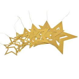 Canada 4 M 3 Couleurs Belle Clignotant Petites Étoiles Suspendus De Mariage Fête D'anniversaire Mur Accrocher Papier Étoiles Guirlandes Maison Chambre Pull Fleurs Décors Offre