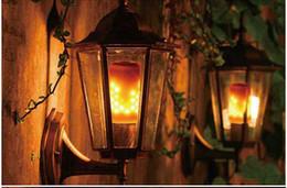 caixas de transporte decorativas por atacado Desconto Criativo Hot Simulação de Incêndio Lâmpada Lâmpada LED Flame E27 Casa Atmosfera Decorativa Cintilação Upwards Lâmpada 3 Modo Lâmpada LED Chama