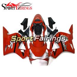 954 rote verkleidungen online-Glänzende rote Einspritzung 02-03 CBR 900RR Motorrad-ABS volles Verkleidungs-Plastikinstallationssatz für Honda CBR900RR 954 Jahr 2002 Karosserie 2003