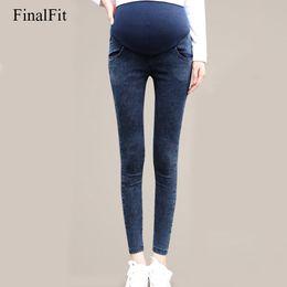 mulher negra gorda Desconto M-3XL Maternidade Jeans Plus Size Azul Preto Skinny Elastic Gravidez Denim Jeans Grávida Gordura Roupas de Mulher Grávida
