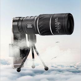 Черный HD Компактный Монокуляр Zoom 50x52 Zoom Телескоп Бинокль высокой мощности высокой четкости Регулируемый Дневное время хорошо для подарка cheap monocular hd от Поставщики монокуляр hd